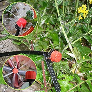 Globeagle 50pcs Micro Flow Dripper Drip Head 1/4 Inch Hose Garden Irrigation Misting