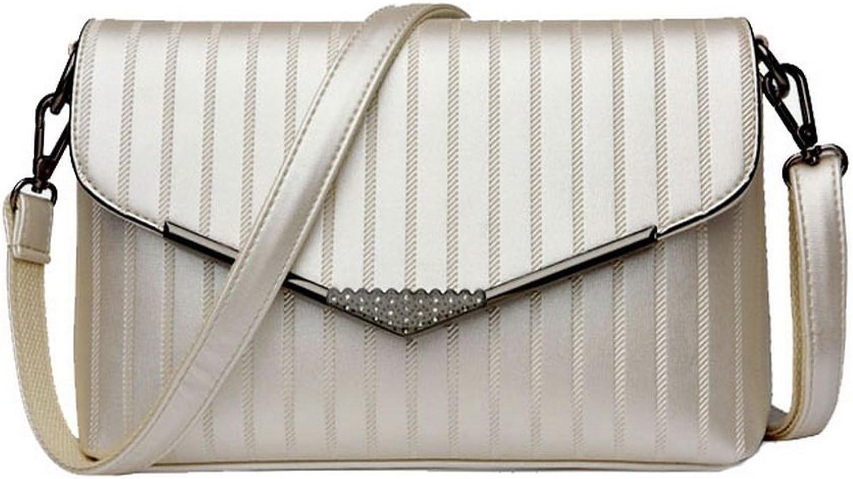 BalaMasa Womens Simple Square Patent Leather messager Handbag