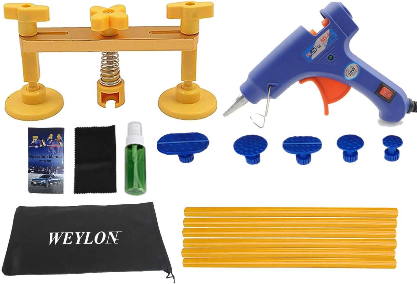 Weylon 14pcs Auto Paintless Dent Removal Werkzeuge Kleber Gun Bridge Puller Reparatur Werkzeug Kits Ops Ein Dent Ding Pdr Tools Auto