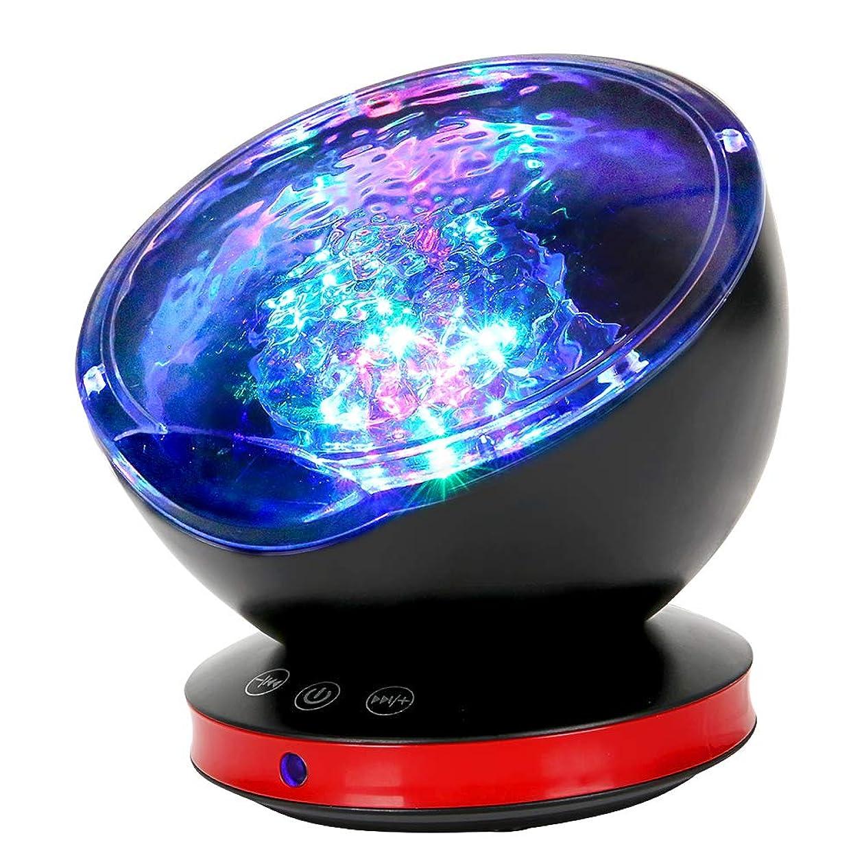 大学生嫌がる説明するQCY 海洋プロジェクターライト 8種点灯モード 6種音内蔵 USB給電 輝度/角度調整可 スピーカー搭載 ブラック