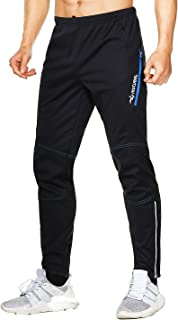 MUCUBAL Cycling Pants for Men Windproof and Waterproof Bike Softshell Winter Thermal Breathable Running Trousers