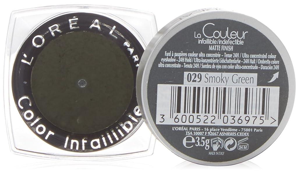 手錠微生物ネックレスL'Oréal Paris Indefectible Eye Shadow 29 Smokey Green, 3 ml