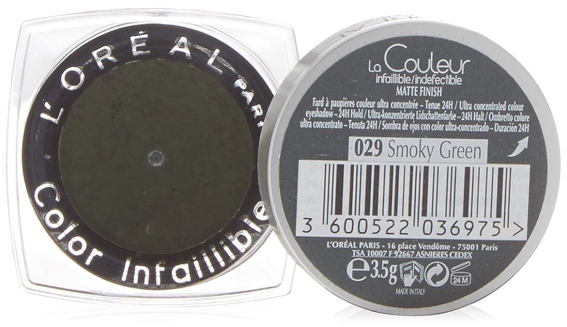 スチュワーデス論争最小化するL'Oréal Paris Indefectible Eye Shadow 29 Smokey Green, 3 ml