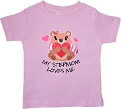 inktastic My Stepmom Loves Me- Bear and Hearts Baby T-Shirt