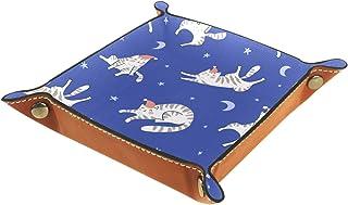 Vockgeng Chat endormi Boîte de Rangement Panier Organisateur de Bureau Plateau décoratif approprié pour Bureau à Domicile ...