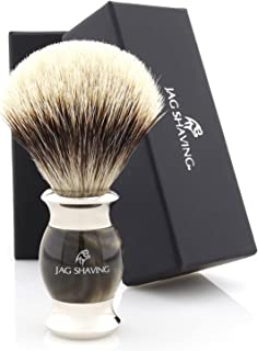 Jag Shaving Scheerkwast - Silvertip Badger Scheerkwast - Jag's Lee Range - Elegant Design Houten Grip - Perfecte scheerkwa...