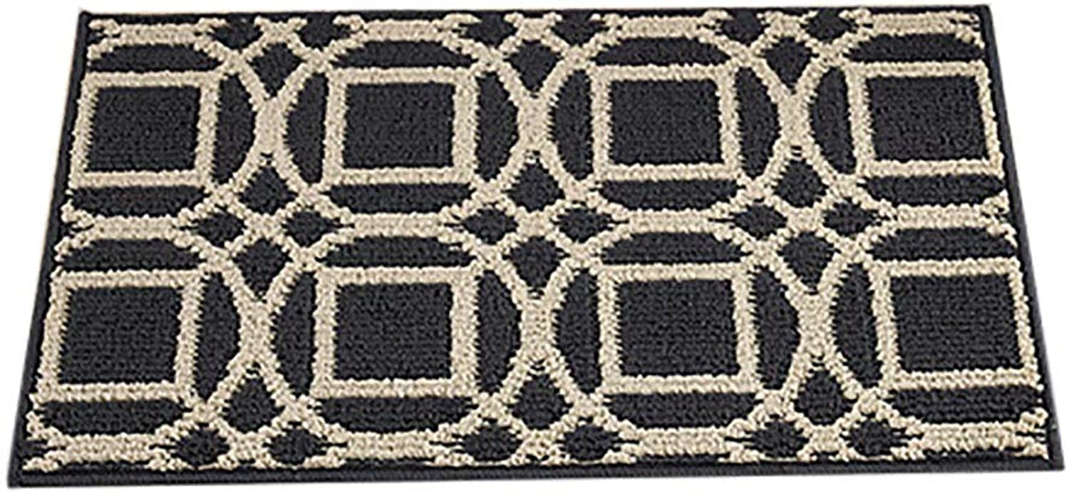 Door mat,Entrance Door mats Kitchen Rug Rug Floor mat Indoor Doormat Low Profile Door mats-Round 45x120cm(18x47inch)