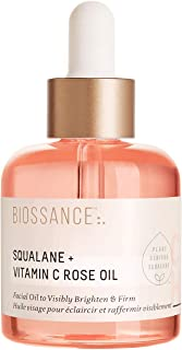 Biossance Squalane + Vitamin C Rose Oil - Lightweight Brightening + Firming Facial Oil - No Parabens or Synthetic Fragranc...