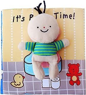 Opla3Ofx Cartoon Baby Bathroom Potty Bathing Skills Learning Soft Cloth Book Kids Toy 1#