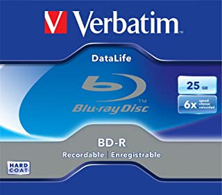 Verbatim DataLife BD-R BD-R 25GB 1pc - Blank Blu-Ray Discs (BD-R, 120mm, 25GB, 6X, Jewelry Box, 1Pc)