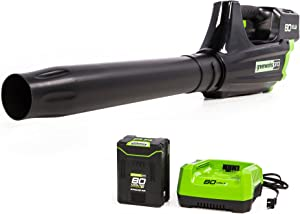 GreenWorks Pro GBL80300 80V 125 MPH – 500CFM Cordless Leaf Blower, Battery and Charger Not Included