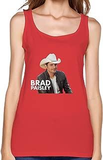 American Country Folk Singer Brad Paisley Tank Top For Women Black