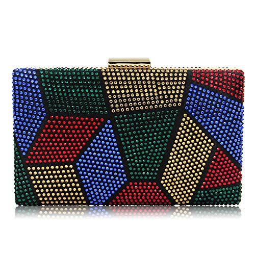 YYW SSMKY265963, Damen Abendhandtasche und Clutch, multi - Größe: One Size