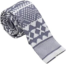"""Dan Smith Solid Men Skinny Knitted Ties 2"""" Casual Classic Knit Pre-Tied Bowties For Men Wedding"""