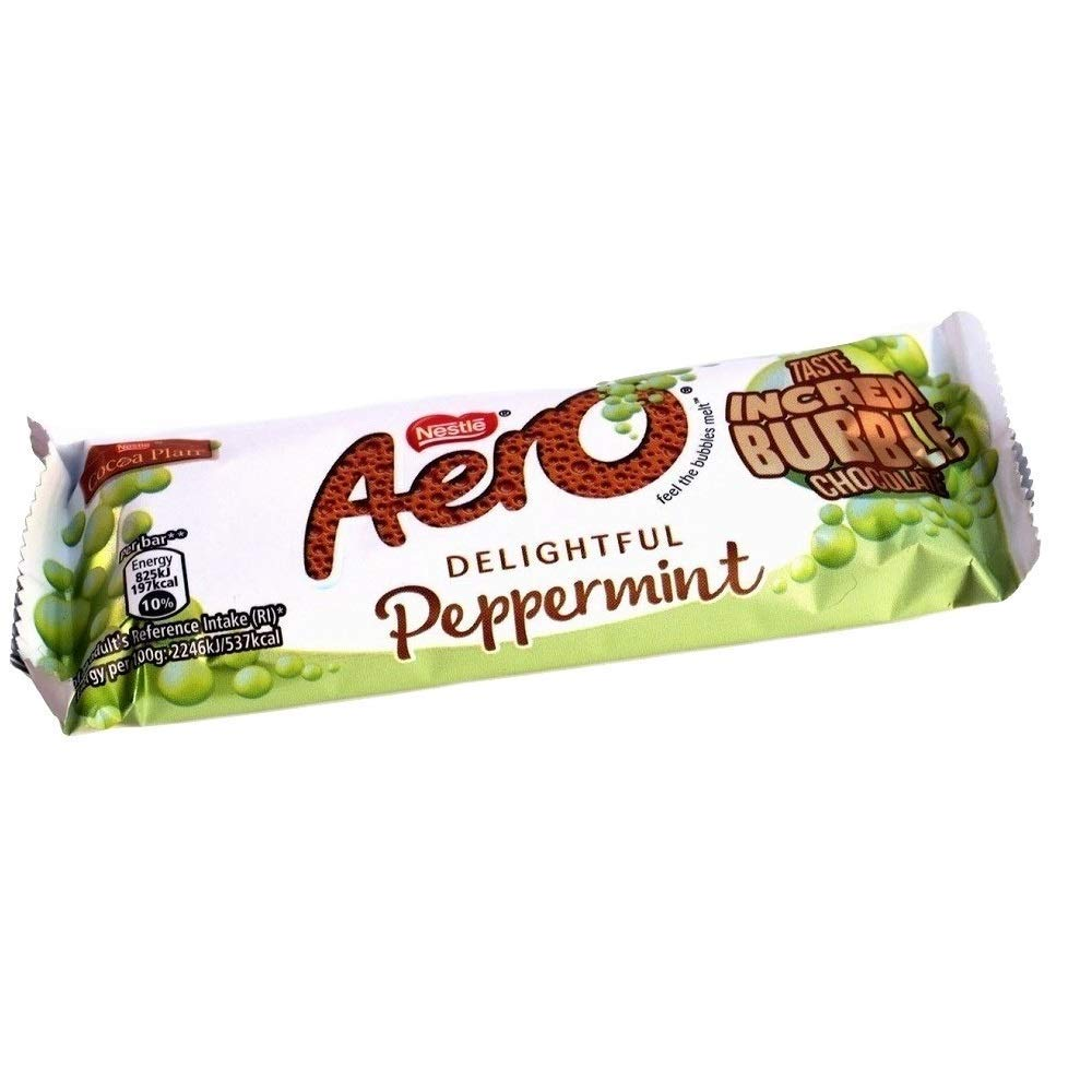 Nestle Aero Popular standard Phoenix Mall Mint Chocolate Bar Pack of 6 36g