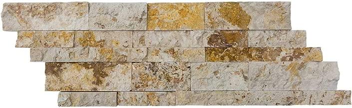 Valencia Travertine Stacked Stone Ledger Panel - Split Face - 7