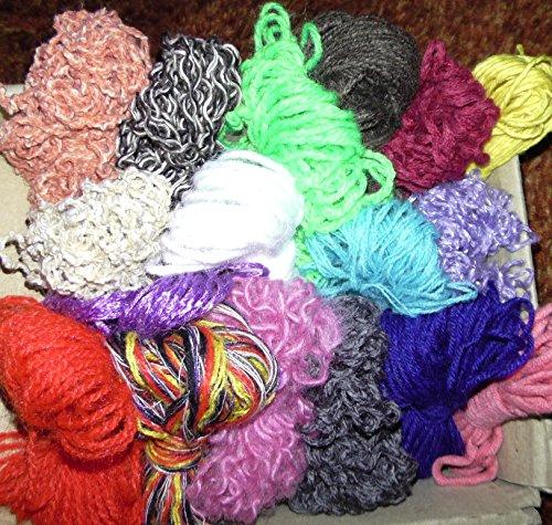 Wollreste 50g Wolle basteln häkeln weben stricken lernen, KITA Kinder Schule Handarbeit