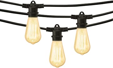 Mr. Beams String Lights, 40W ST58 Bulb