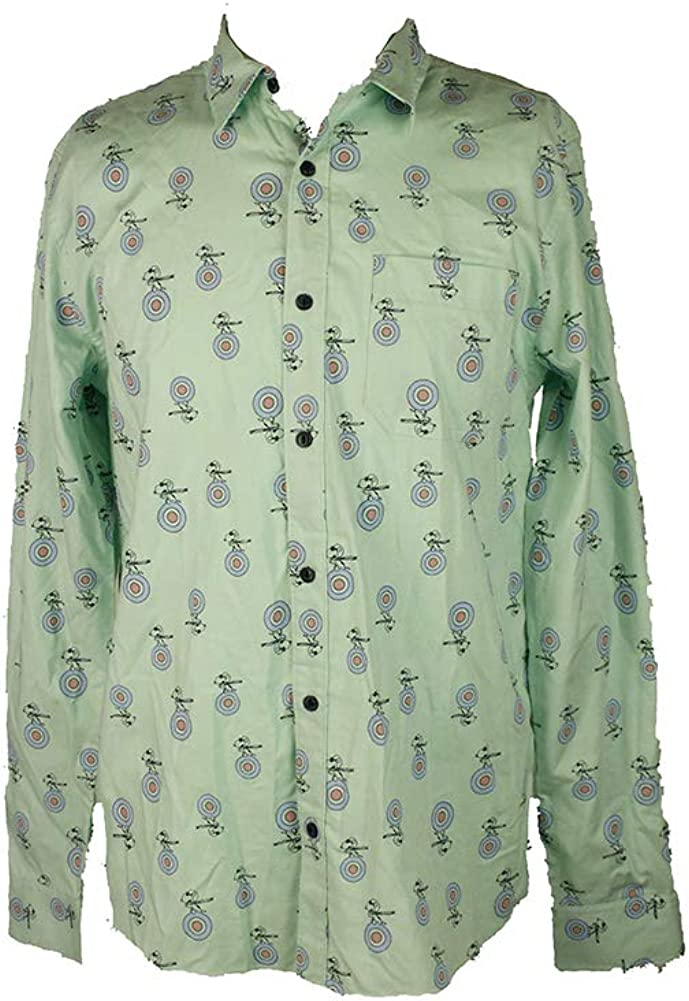 Peanuts Mens Snoopy Button Up