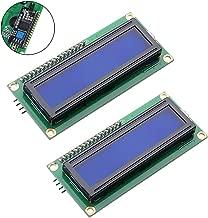 HiLetgo 2pcs HD44780 IIC I2C1602 LCD Display with IIC I2C TWI SPI Serial Interface Adapter 1602 LCD Display Blue Backlight for Arduino