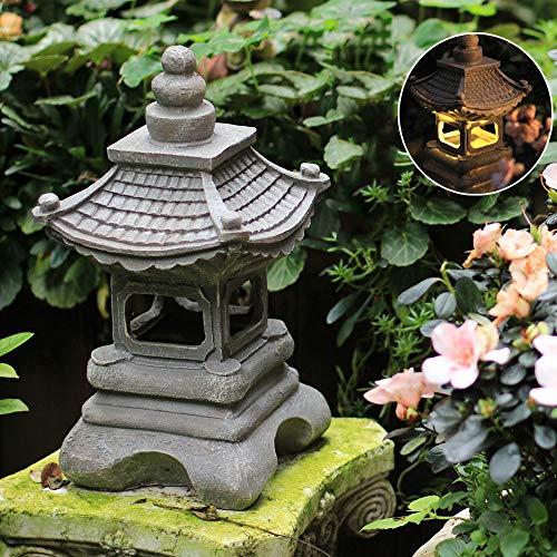 Estilo Japonés Al Aire Libre Solar Zen Garden Lights