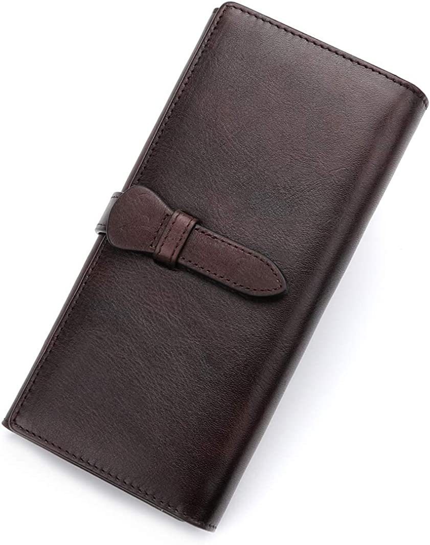 Genuine Leather Wallet Women Long 5 Miami Mall ☆ very popular Cowhide Vintage Purse Clutch H