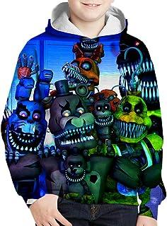 Five Nights at Freddy's Pullover Cuello redondo de la camiseta de los muchachos más fino caliente Pullover Niños Slim Fit ...