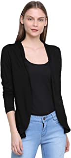 RUTE Viscose Full Sleeves Solid Shrug for Women