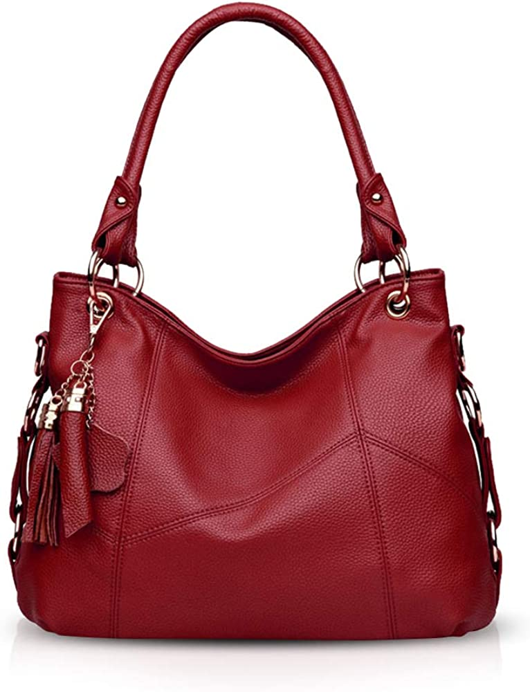 Nicole & doris, borsa a mano/tracolla da donna, in ecopelle, rossa ND-ADY002