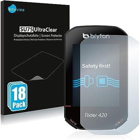 Savvies 6X Schutzfolie kompatibel mit Bryton Rider 420 Displayschutz-Folie Ultra-transparent