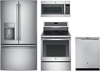 GE Profile4-Pcs Kitchen Package with PFE28KSKSS 36