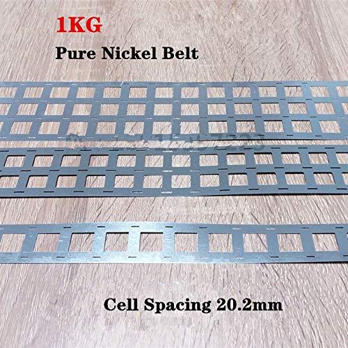 CENPEN 1kg Pure Nickel Tab 18650 Batería de iones de Li-Ion Strip, Batería Ni Cinturón, Tabletas de batería de soldadura de níquel puro (Voltage : 4P)