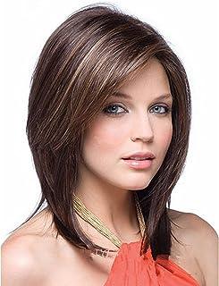 شعر مستعار صناعي طبيعي المظهر مقاوم للحرارة للنساء