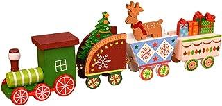 Ackful🍁 Xmas Wooden Christmas Train Santa Claus Festival Ornament Home Decor Kids Gifts (A)