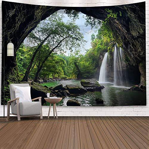 WERT Tapiz de Pared Tapiz Colgante de Bosque decoración Toalla para Colgar en el hogar Alfombra de Sol y Luna Cubierta de Cama Estera de Yoga A4 95x73cm