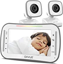 """Video Baby Monitor, 4.3"""" High Resolution Display, 2 Cams for 2 Rooms, 15-Hour Battery Life, 1000ft Range, 2-Way Communication, Secure Privacy Wireless Technology"""