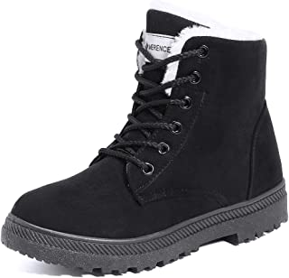 Women's Snow Boots Winter Suede Cotton Warm Fur Lined...