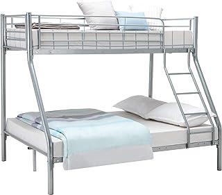 Panana trippel våningssäng 3FT enkel 4FT6 dubbelmetall sängram tillgänglig i vit svart, silver
