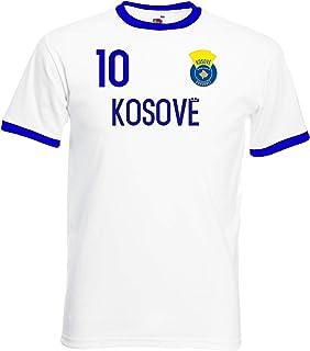 world-of-shirt Herren T-Shirt Kosovo im Trikot Look Adleremblem