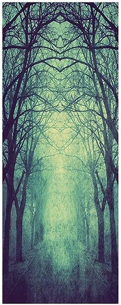 Panzisun Skull Zombie Ghost Door Stickers 3D Halloween Decorations Wallpaper Horror Poster For Window Door Desktop Home Decor 2pack A