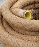 Doubleyou Geovlies & Baustoffe Drainagerohr DN 80 gelocht mit Kokosfilter, Kokos ummantelt, Drainage (20m)