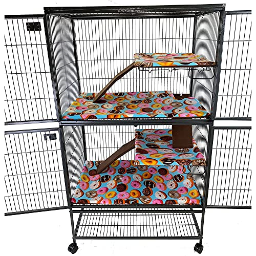 Piggy BedSpreads Fleece Liners for Ferret Nation Critter Nation Cage...