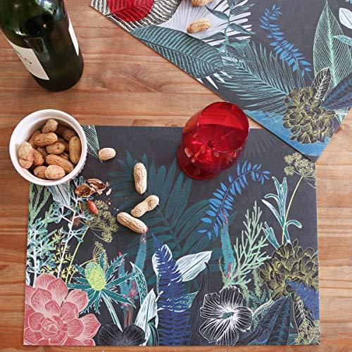 99 DECO - Set de Table Antidérapant Jungle Douanier Rousseau - Lot de 4