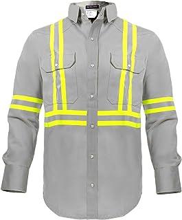 Flame Resistant High Visibility Hi Vis FR Shirt - 100% C - 7 oz
