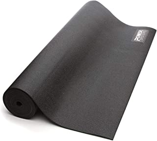 Power Systems Professional Club Grade Yoga Mat, 74 x 24 x 0.25 Inches, Slate Gray (83215)