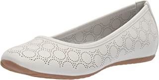 white cut out flats