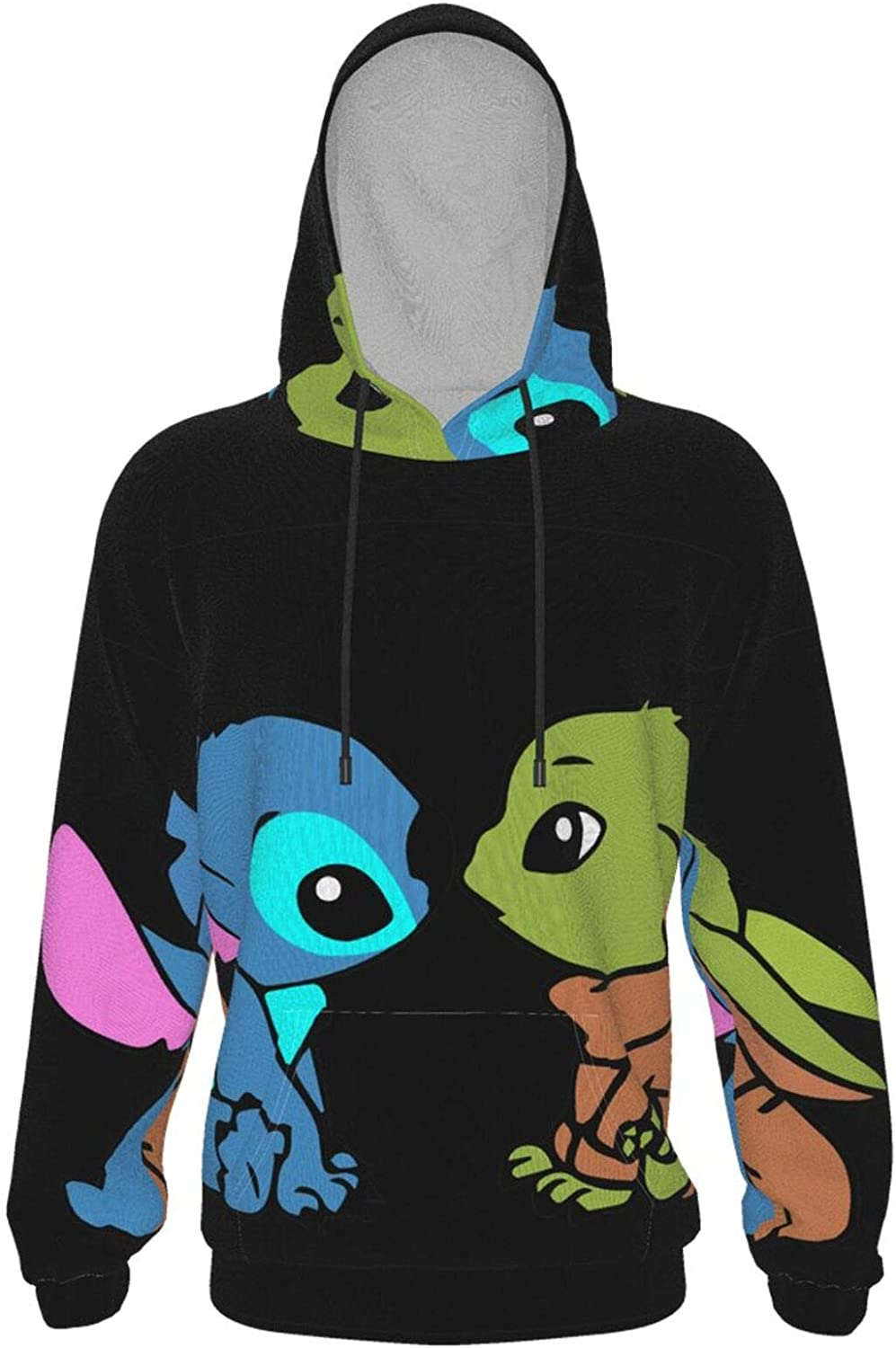 Boys Hoodies 3d Printed Baby Yoda Baby Stit-Ch Front Pockets Pullover Sweatshirts For Girls Kids Novelty