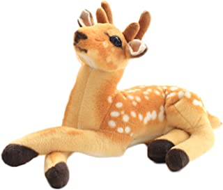 11.8 Inch Deer Stuffed Animal Plush for Kids Gifts,Sika Spotted Deer Plush Toy