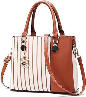 حقيبة BeniWomen's جديدة حقيبة كتف من البولي يوريثان حقيبة يد ساعي - كاكي