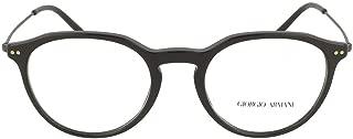 Luxury Fashion | Giorgio Armani Mens 71735001 Black Glasses | Season Permanent